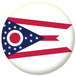 Ohio State Flag 58mm Mirror Keyring